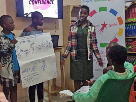 Career Exploration With Girls in Rwanda