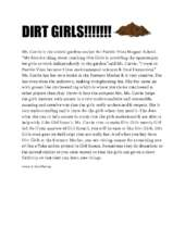 Dirt Girl Article (Author: 8-year old KF) (PDF)