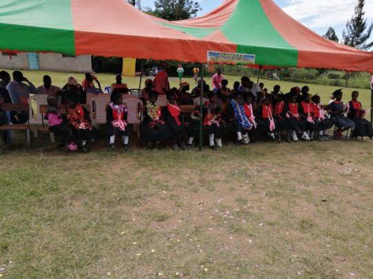 ECDE graduation ceremony at the school's compound