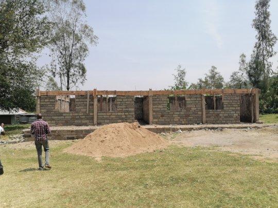 The new ECD Block being built to host 90 children