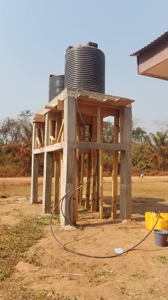 Finished Water Tower With Well Connection