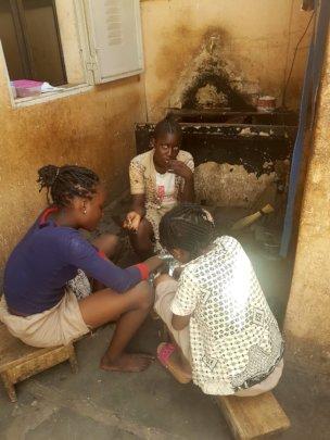 Children sharing meals