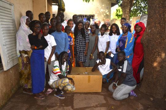 Bintou Clothe donation ceremony