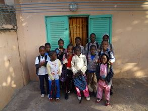 ACFA children going to English class