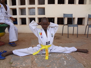 Saleh with his new yellow belt