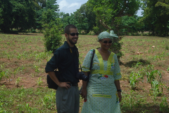 Eric and Kadiatou Visiting the farm