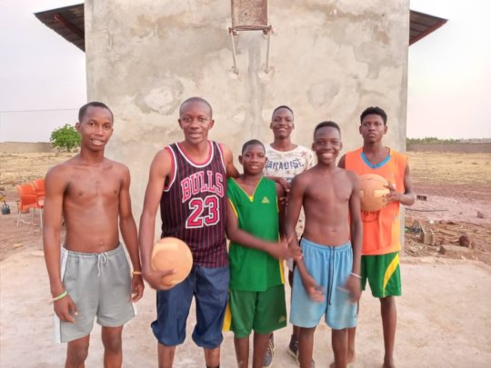Children at Basketball court