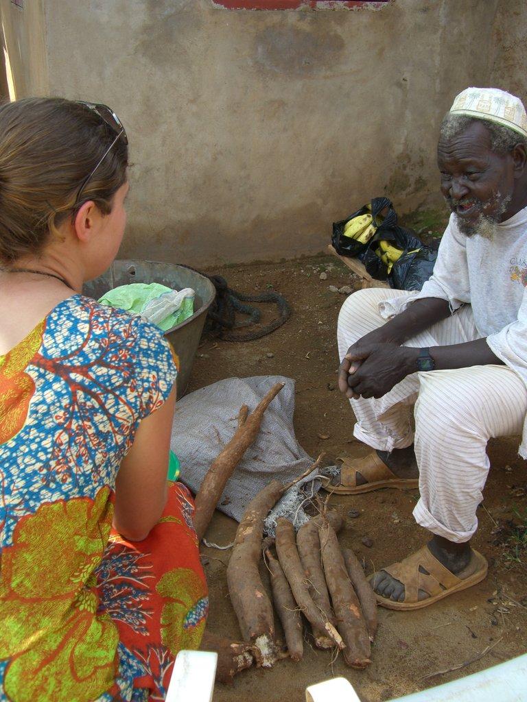 Sarah visiting with Kadiatou