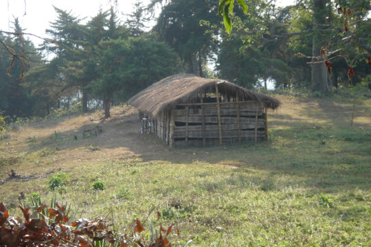 Before Orphans Africa, school was a bamboo hut