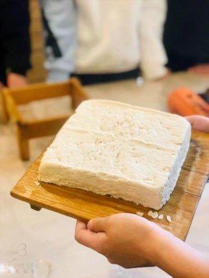kids made their own organic tofu