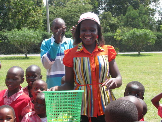 Teacher Alice at Sports Day