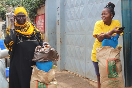 St. Vincent's Food Distribution in Kibera