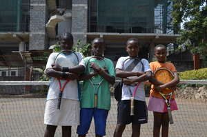 St. Vincent's Children at Tennis Practice