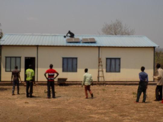 Installing Solar Lamps at Rural Health Centre