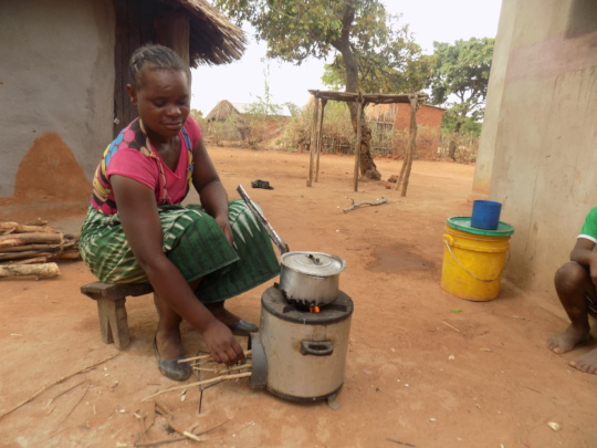 Clean cookstove beneficiary