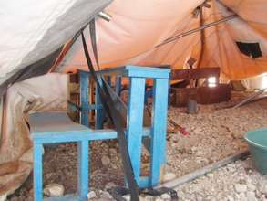 What's left of the orphanage classrooms