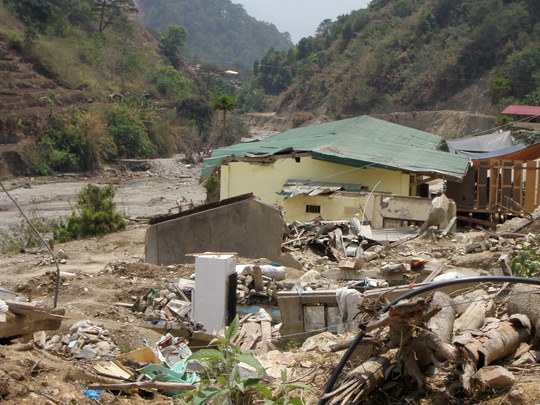 One example of the devastation caused by landslide