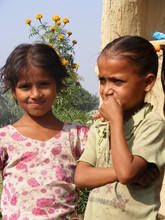 Two HIV-positive girls, who will benefit from Punarbal C&SC.