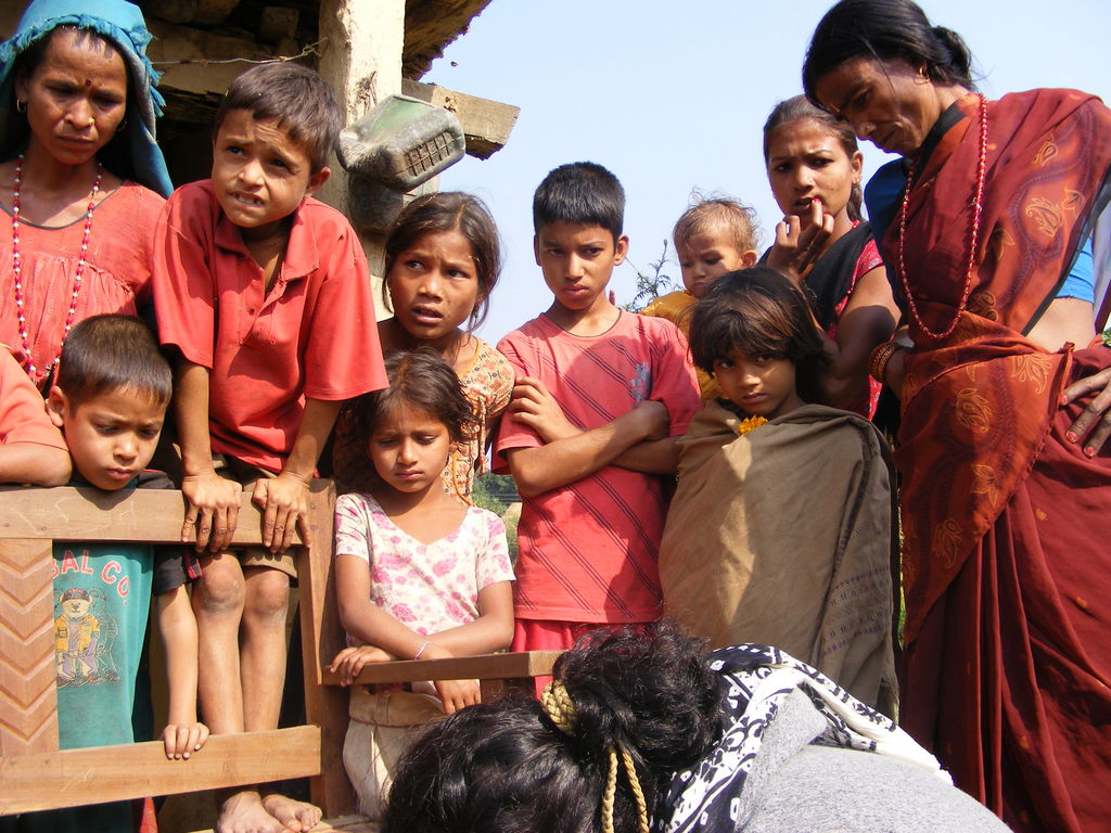 Children of a poor, rural village in Kailali.