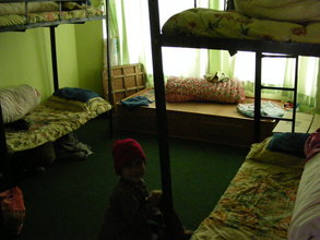The girls' dorm with 5-year-old Susila Budha