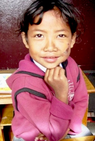 One of our students at Punarbal Plus HIV School