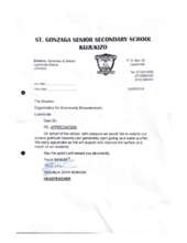 Letter from St Gonzaga (PDF)