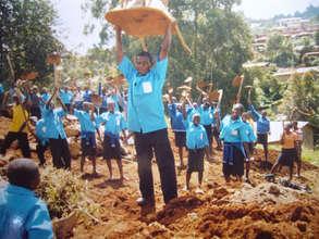 Students celebrating their hard work