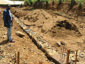 Inspection of the foundation construction work