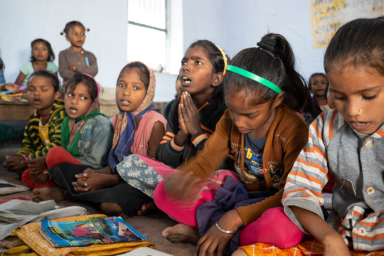 Students at Kaliychak Girls' School, November 2019
