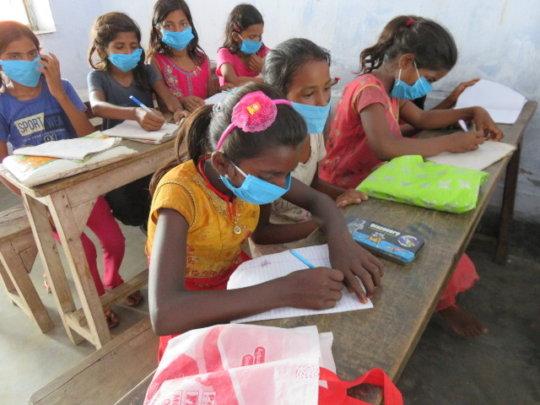 Students at the Kaliyachak Girls School