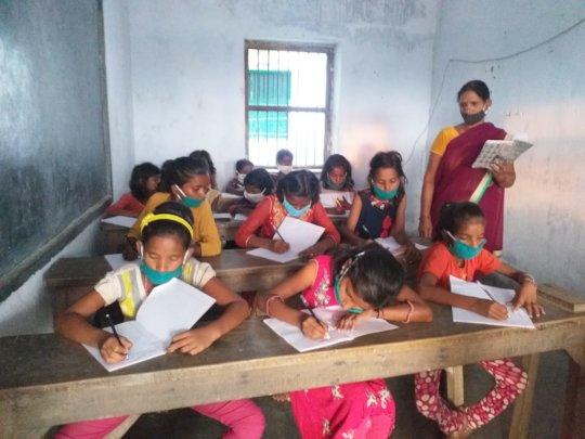 Kaliychak Girls' School reopens after second wave.