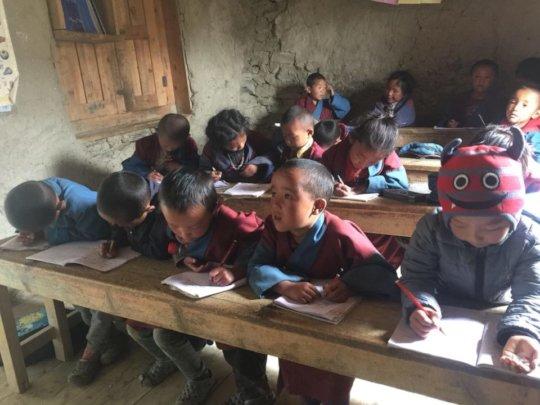 School lesson in Saldang school, summer 2020