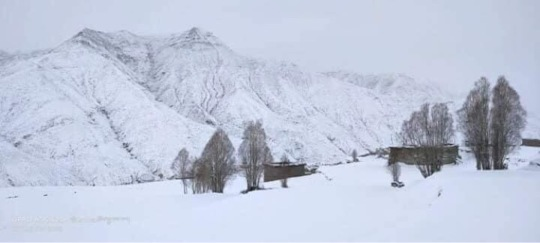 Winter landscape in Saldang