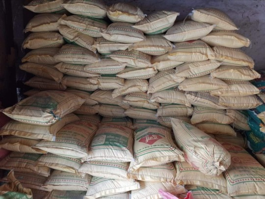 20 tons of rice and flour for 700 families