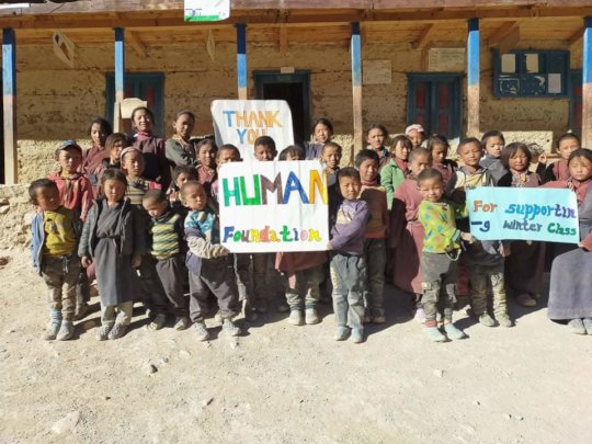 Children say thank you to Human-Stiftung