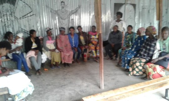 Picture 3: Group of women ready to be financed