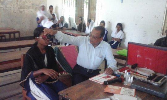 Restore vision to1000 Bangladeshi village students