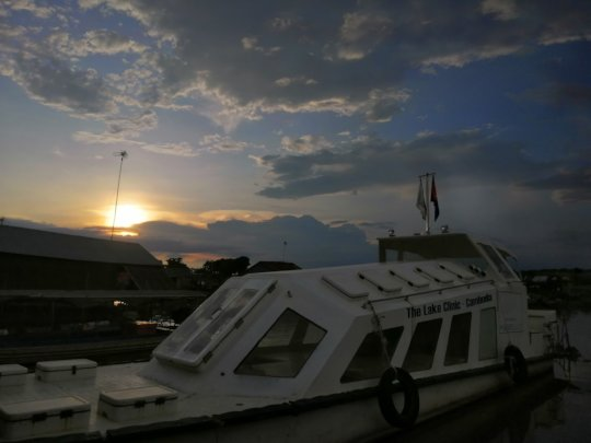 The TLC-4 at sunset.