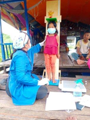 Monitoring children at risk of malnutrition.