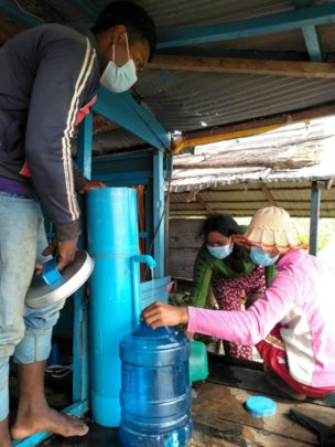 Clean water is essential to a family's good health