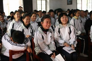 Excited students from our first Moganshan visit, July 2009