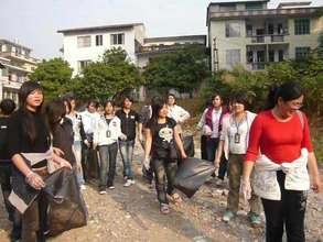Picking Up Litter in Villages