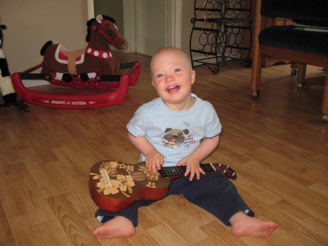 Andrew enjoys a dose of music medicine!