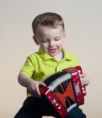 Wyatt making beautiful music through MusicRx