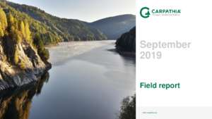Field Report September 2019 (PDF)