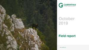 Field Report October 2019 (PDF)