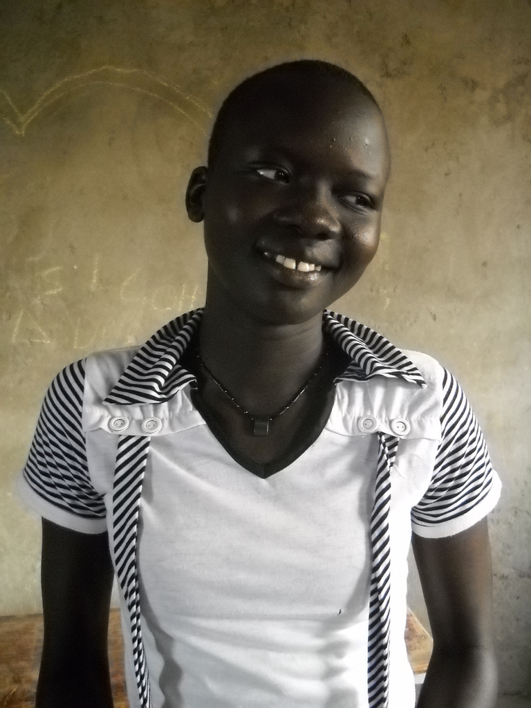 Grace Adeng Deng Honor Student at Ayak Anguei