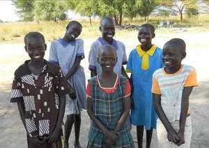 Schoolgirls, happy to recieve new bed & mattress