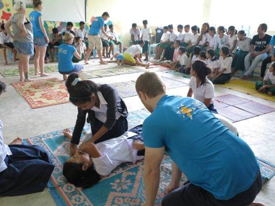 Safe Water Safe Land Training for students