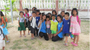 Cherry with Nursery students